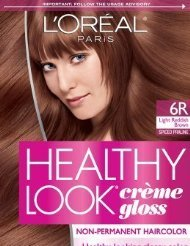 loreal paris healthy look creme gloss color light red brownspiced praline - L Oral Gloss Color