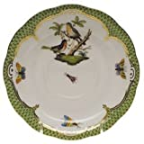 Herend Rothschild Bird Green Tea Saucer Motif #8