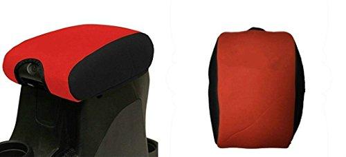 Nicebee Red Neoprene Center Console Armrest Pad Cover for Jeep Wrangler JK Sahara Sport Rubicon X & Unlimited 2011 2012 2013 2014 2015 2016 2017