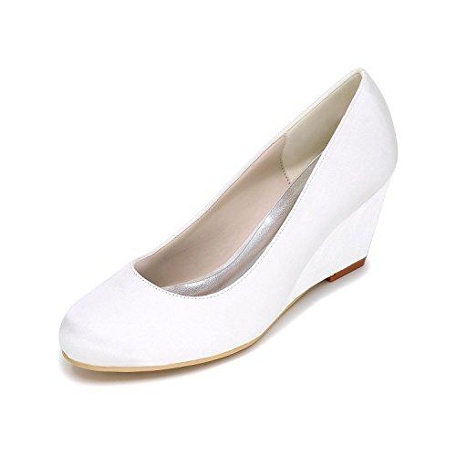 L@YC Frauen High Heels Slope mit Hochzeit Schuhe Anpassung 9140-01 Party & Schuhe mehr Farben White