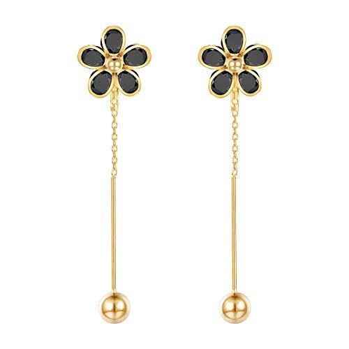 (Yoursfs Clip on Dangle Earrings for Fashion Women Ball Invisible Clip on Earrings Non Pierced Ears Clip on Drop Earrings)