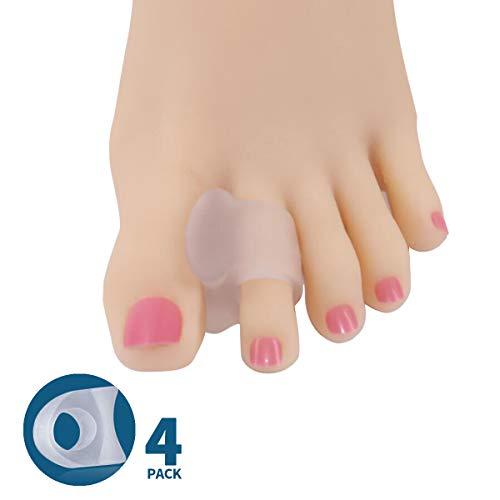 Toe Separators Hammer Toe Straightener, Soft Gel Bunion Corrector Splint for Bunion Diabetics Foot Pain Relief for Women Men - Translucent 2 ()