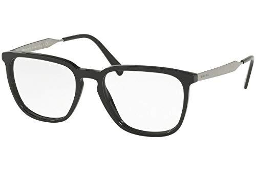 - Prada Women's PR07UV Square Eyeglasses, Black/Clear, One Size