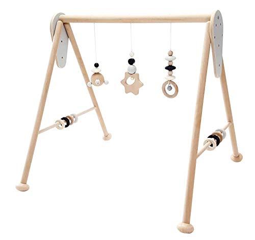 Hess Holzspielzeug 10128449 babyspeeltoestel ster, speelboog van hout met figuren en rammels, voor baby's vanaf 0…