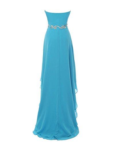 YiYaDawn - Vestido - trapecio - para mujer azul cobalto