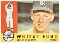 (1960 Topps Regular (Baseball) Card# 35 Whitey Ford of the New York Yankees VGX Condition)