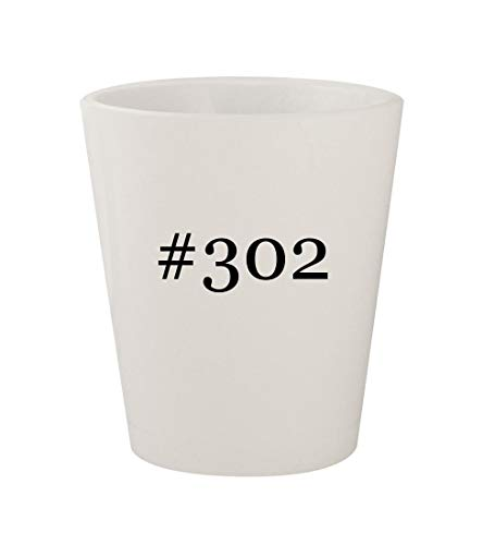 #302 - Ceramic White Hashtag 1.5oz Shot Glass - Mustang Crate Engines