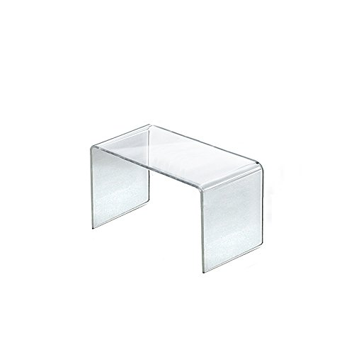 Count of 4 New Retail Clear Acrylic Riser Display 8''w x 4''d x 4.5''high