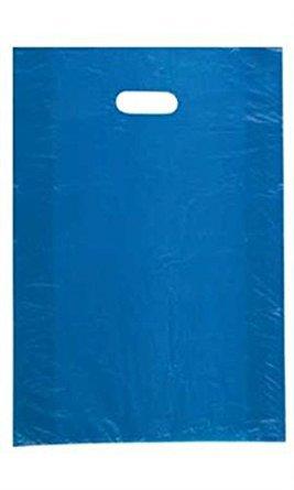 "Plastic Bags 1000 Yellow Shopping Gift High Density 15/"" x 4/"" x 24/"" Diecut Handle"