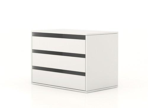 Cassettiera interna armadio bianco CT7172 L85h60p50: Amazon.it: Casa ...