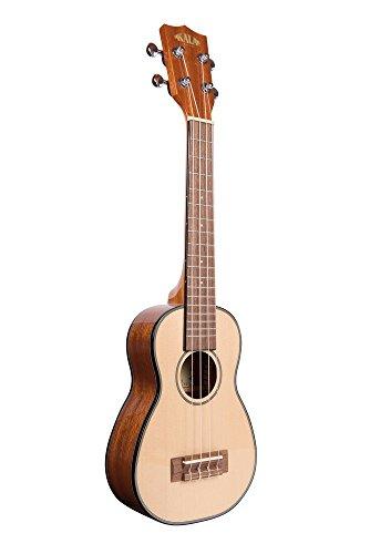 Kala KA-SSLNG Soprano Long Neck - Solid Spruce Top / Mahogany Ukulele, Natural, Soprano