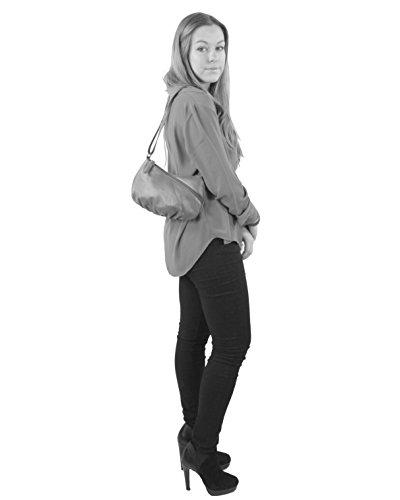 histoireDaccessoires - Bolso con Bandolera de Cuero de Mujer - SA145123GA-Pia BeigeBeige