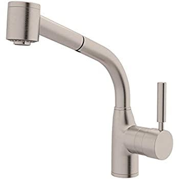 rohl pull out kitchen faucet rohl r7923stn lux single lever handle pull out kitchen faucet 0 in l x 0 in w x 0 in h satin 6986