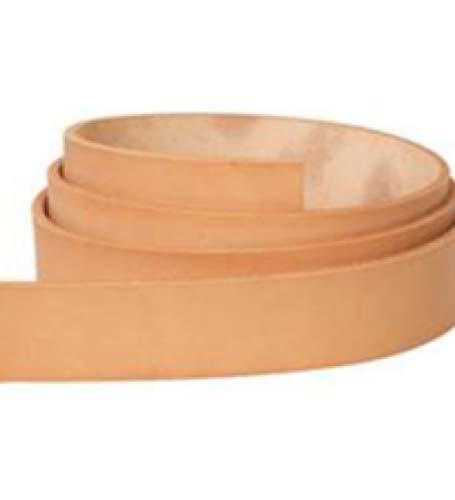 Large Leather Tan (Hermann Oak B Grade Vegetable Veg Tan Cowhide Leather 1-1/2