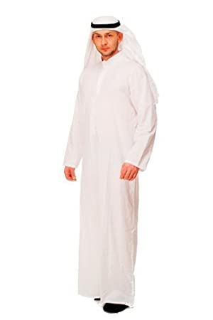 DRESS ME UP Party/Fancy Dress/Halloween Men Costume Sheik Middle Eastern Saudi Arab  sc 1 st  Amazon UK & DRESS ME UP Party/Fancy Dress/Halloween Men Costume Sheik Middle ...