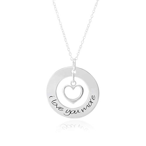 (I Love You More Necklace // Sterling Silver Necklace // Gift for her // Anniversary Necklace for Anniversary Gift)