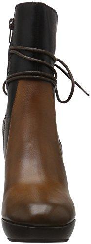 SPM Damen Nano Covered Ankle Boot Kurzschaft Stiefel Braun (Dk Cuoio 006/Dk Brown 002/Black)