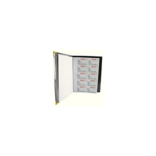Identibadge Complete Visitors Book - Black