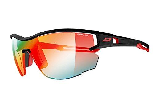 Julbo Aero Sunglasses, Black/Red with Zebra Light Lenses