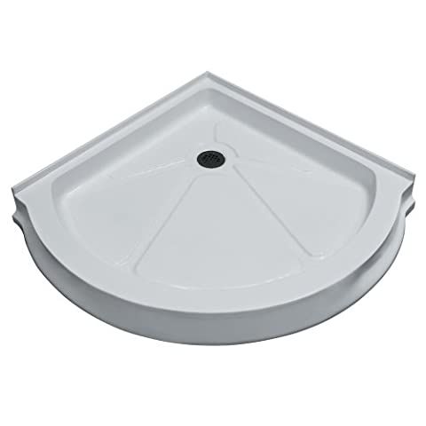 VIGO 36 x 36-in. Round Shower Base, White (Shower Pan 24 X 24)