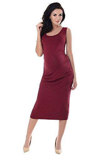 Purpless Maternity Vestido de Embarazo Sin Mangas 8130 Burgundy