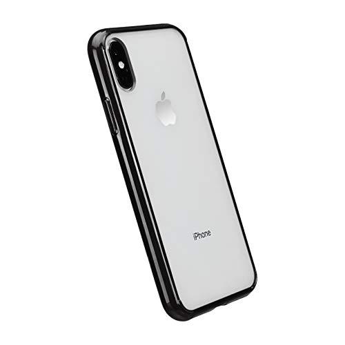 Amazon Basics iPhone Xs Crystal Mobile Phone Case (Protective & Anti Scratch) – Black