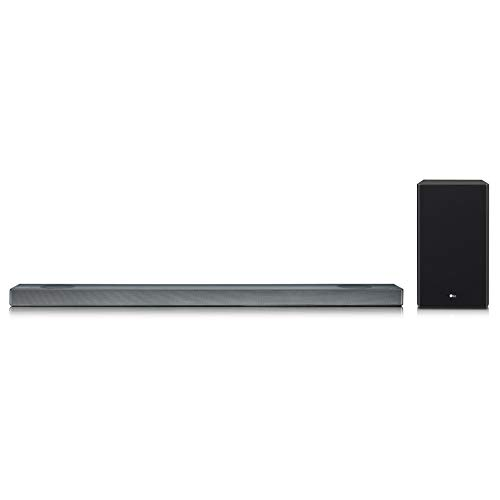 LG SL9YG 4.1.2 Channel High Res Audio Sound Bar w/ Meridian Technology, Dolby Atmos and Google Assistant Built-In, Black
