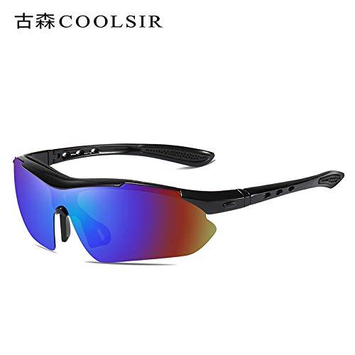 Que 1 Negro sunglasses Mjia de nbsp;los nbsp;montan Libre conducción de del los de Gafas Hombre Gafas al Marco nbsp;Espejo Aire Deportes Deportivas Black polarizadas vidrios Sol 8wqdw4g