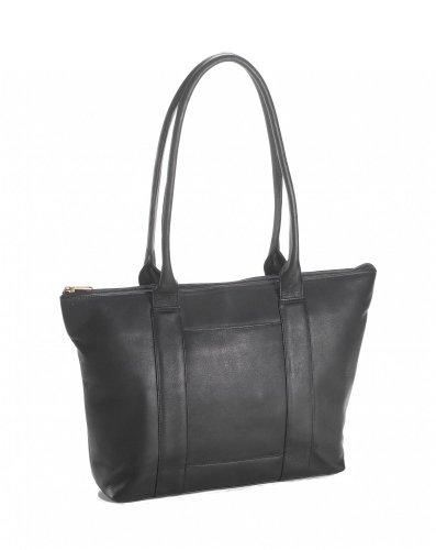 Clava Vachetta Leather Zip Tote (Vachetta Black) by Clava
