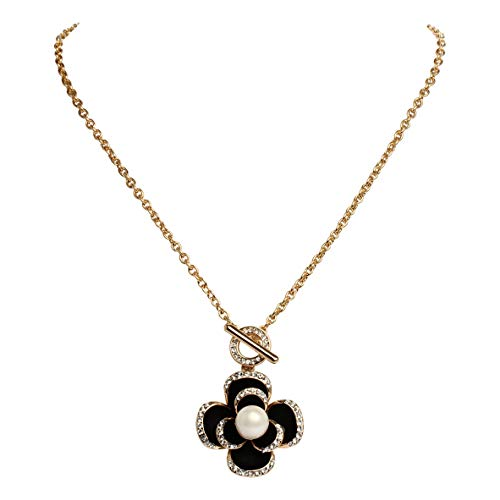 MISASHA Multipurpose Camellia Charms Long Strand Bridal Necklace ()