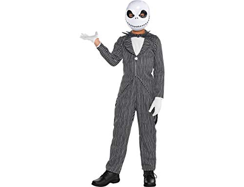 Amscan The Nightmare Before Christmas Jack Skellington Pinstripe Costume for Toddler Boys, Small, with Accessories