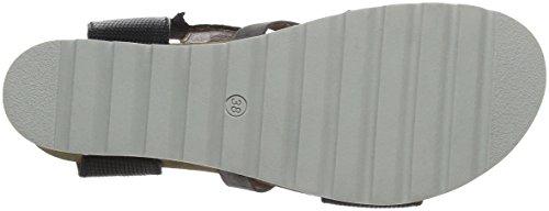 Mjus Ladies 221031-0101-0001 Sandali Con Il Cinturino Grigio (nero + Mouse)