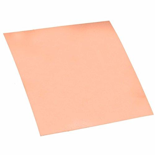 Durable 99.9% Pure Copper Cu Metal Sheet Foil Copper Plate 100x100x0.2mm For Welding Brazing by TOLOVI