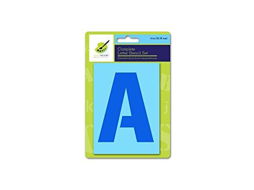 Color Factory PA718E Complete Letter Stencil Sets, 4in, - Stencil 4 Inch