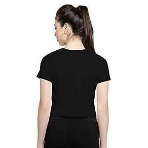 CrazyInk Women's Regular Fit Crop Top