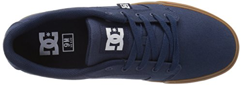 DC Men's Anvil TX Skate Shoe, Navy/Gum, 8 M US