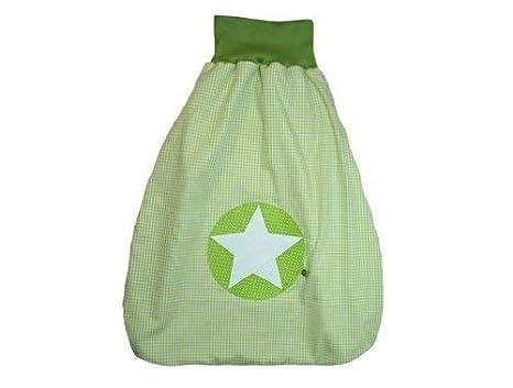 Saco de dormir Saco para bebé de 50 cm Cuadros Verde con nombre bordado verde Stoff: Karo Grün, Schrift: Dunkelbraun Talla:50cm: Amazon.es: Bebé