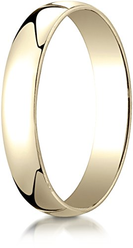 Benchmark 14K Yellow Gold 4mm Low Dome Light Wedding Band Ring , Size 8 ()