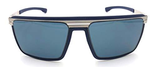 ic! berlin The Superhero Sunglasses in Navy Blue & Pearl with Grey Nylon ()
