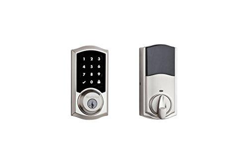Kwikset 99160-020 SmartCode 916 Z-Wave Plus Touchscreen Deadbolt Satin Nickel