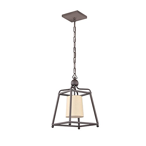 (Crystorama 2240-DB Traditional One Light Pendant from Libby for Crystorama:Sylvan collection in Bronze/Darkfinish,)