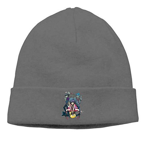 3fbf1141071a46 luckwelw Gorillaz Trip Skull Hats Knitted Cap Beanie Black