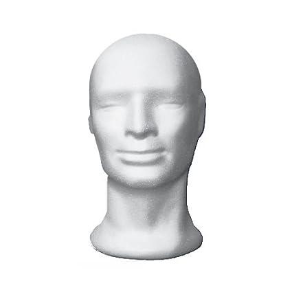 Testa manichino polistirolo uomo bianco per parrucca cappelli e accessori   Amazon.it  Casa e cucina 5e890860d0db