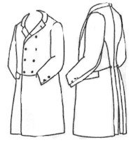 Men's Vintage Christmas Gift Ideas Double Breasted Frockcoat Pattern - Size Medium (40-44) $15.00 AT vintagedancer.com