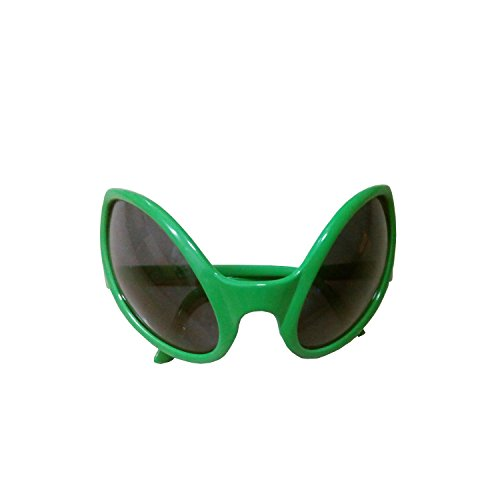 Green Plastic Alien Sunglasses Party Favors