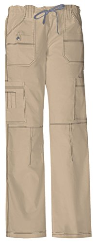 Dickies Women's Low Rise Drawstring Cargo Pant_Dark Khaki_Small,857455