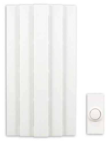Heath Zenith SL-6155-D Traditional Décor Wireless Door Chime with Push Button, White