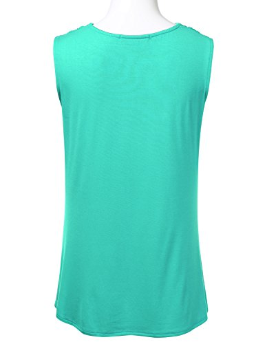 FLORIA-Womens-Cowl-Neck-Ruched-Draped-Sleeveless-Stretchy-Blouse-Tank-Top-S-3X