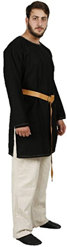 THOR Medieval Tunic by CALVINA COSTUMES -Unisex - Made in TURKEY, XXL-Black