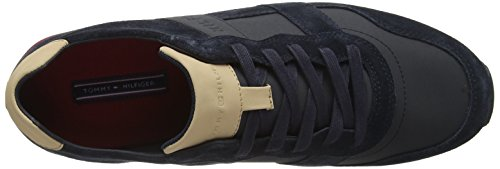 Runner Mix City Material 403 Midnight Tommy Casual Hilfiger Bleu Sneakers Basses Homme qw4X1gn